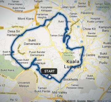 First ride around KL with the Rodalink Bangsar guys