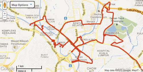 Survey of Titiwangsa, Chow Kit and Sentul