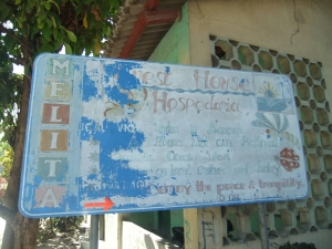 The Melita Guesthouse sign.