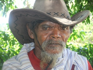 Old man in Baucau, Timor Leste
