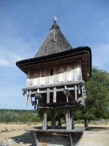 Traditional house in Com, Timor Leste