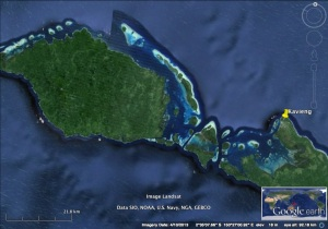 Kavieng is at the western tip of New Ireland island.