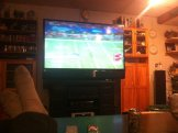 Watching Alabama on Stan and Marisol's big tv. :-)