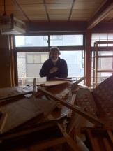 My colleague, Dan. We move piles of debris like this twice a day. Usually it gets thrown from the 2nd floor window!