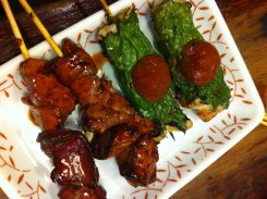 Grilled chicken and grilled chicken with plum sauce. Yummmmy!