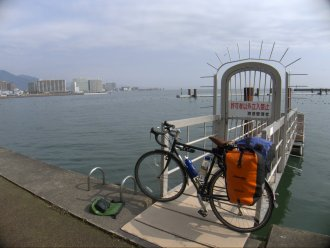 Arrival at Biwako and ready to head around the lake.
